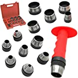 POWHILL 13 Sharp Hollow Punch Tool Set Leather Kit Gasket Hole...