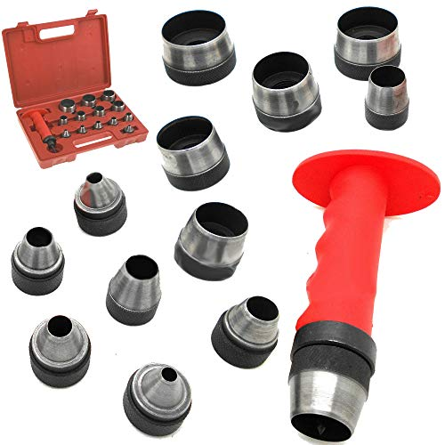 Prima Causa 13 Sharp Hollow Punch Tool Set Leather Kit Gasket Hole