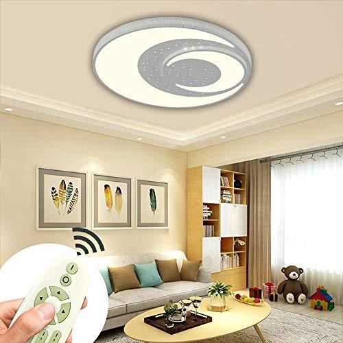 LED Deckenlampe 72W Dimmbar Mond Modern Deckenleuchte Energiespar Wohnzimmer Schlafzimmer Korridor Acryl-Schirm Rahmen Lampe Schlafzimmer Küche Energie Sparen Licht