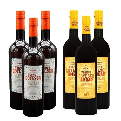 Pack de Vermut Goyesco y Ambar - D.O. Sanlucar de Barrameda - Bodegas Delgado Zuleta (Pack de 6 botellas)