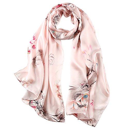 STORY OF SHANGHAI sciarpa di seta da donna 100% seta, 20+ sciarpe colorate, calde e morbide, come una sciarpa di seta stola sciarpa di pashmina - 53 * 170 cm