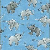 Nutex NU165 Elefanten-Stoff – Baby Elefanten blau – 0,5