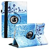 iPad Mini 1/2/3 Case - 7.9inch 360 Degree Rotating Stand Smart Cover Case with Auto Sleep/Wake Feature for Apple iPad Mini 1 / iPad Mini 2 / iPad Mini 3 … (Blue sea)