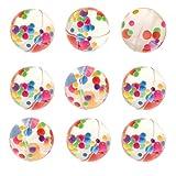 Baker Ross- Pelotas de goma con cuentas multicolor (Pack de 8) Bolas de goma para niños con cuentas multicolor para bolsas sorpresa en fiestas o para jugar en el recreo