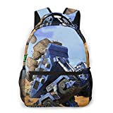 Di-no-tr-ux Casual Backpack Stylish School Computer Backpack Bag Water Repellent College Casual Daypack Travel Business Work Bag,Black ,One Size