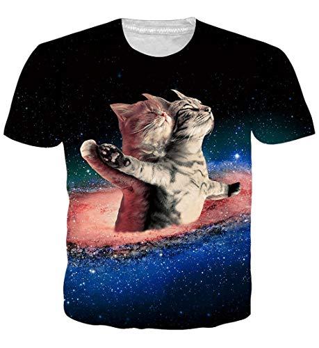 Goodstoworld Gracioso Impreso Personalizado Camisetas Verano Cheetah Print Tshirt tee Tops señoras XL para Hombres