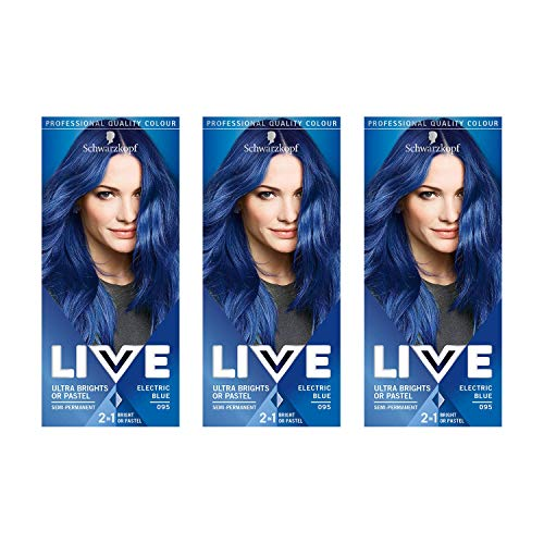 Schwarzkopf Live Ultra Bright or Pastel Hair Dye, Semi-Permanent Colour...
