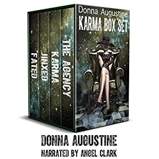 Karma Box Set                   By:                                                                                                                                 Donna Augustine                               Narrated by:                                                                                                                                 Angel Clark,                                                                                        Andrew B. Wehrlan                      Length: 26 hrs and 8 mins     238 ratings     Overall 4.2