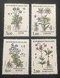 par des Livres Express. Timbre Neuf** de Collection Authentique. France 1983 No 2266 à 2269 Neuf sans charnière. Fleurs de Montagne