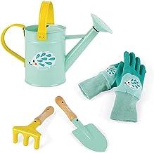 Janod - Happy Garden Little Gardener Speelset - Set van 4 tuingereedschappen voor kinderen - fijne motoriek - muntkleur - ...