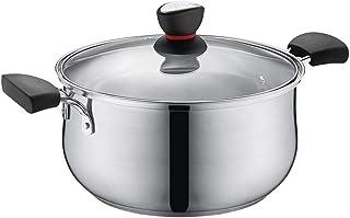GMING - Cacerola - Estofado - Utensilios de Cocina de inducción - Olla de Sopa de Doble Fondo de Acero Inoxidable 304 (Color : B, Size : Diameter 22cm)