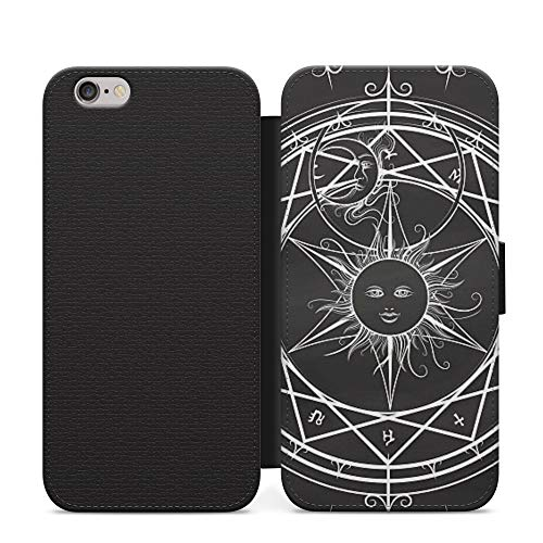 Sun Star Gothic Alchemist Magic Science Wallet Leather Flip Phone Case Cover For Samsung Galaxy S9