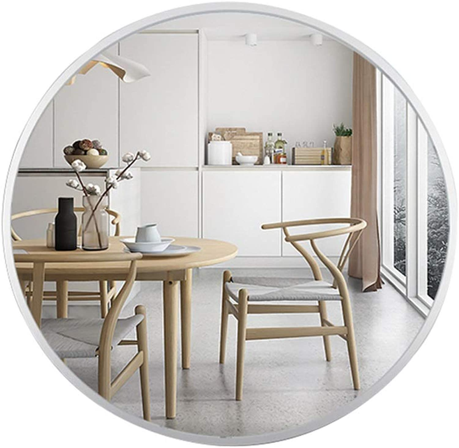 Hallway Large Round Hanging Wall Mounted Mirror Modern Simple Decorative High Definition Shaving Mirror Makeup Shaving Iron Mirrors Multiple Sizes