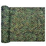 GRVCN Camo Netting Camouflage Net, Bulk Roll Sunshade Mesh Nets for Hunting Blind Shooting Military Theme Party Decorations