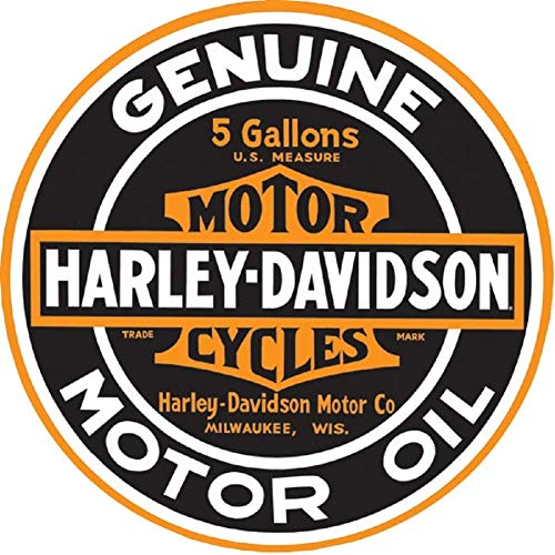 Harley-Davidson Genuine Motor Oil 14 Inch Round Tin Metal Sign 2010621