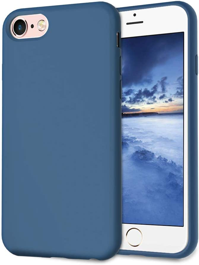 UrSpeedtekLive Slim Series iPhone 6/6s/7/8 Case, Liquid Silicone Gel Rubber Shockproof Cover Case with Soft Microfiber Lining Full Body Protection for iPhone 6/6s/7/8, Cobalt Blue