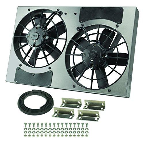 Derale Performance 16831 Gray/Black High Output Dual Radiator Fan