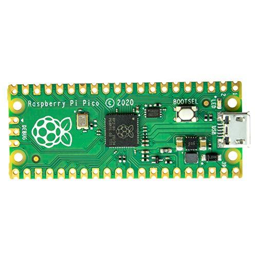 Ingcool Raspberry Pi Pico Board mit Flexiblen Digitalen Schnittstellen, Basierend auf RP2040 Chip, Dual-Core ARM Cortex M0+ Prozessor mit bis zu 133 MHz, Unterstützung von C/C ++/Python