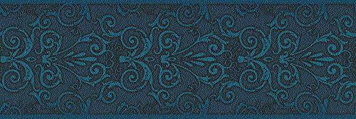 Versace wallpaper 935474 93547-4 Bordüre Herald Borte mit Ornamenten barock, dunkelblau, 5,00 m x 0,17 m