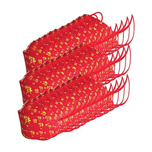 Einweg_askenschutz Einweg_Schutz_Masken 3-lagige Einweg-Fischmaske für Kinder jkhhi 10/20/30 Stück Face-Mouth Cover Einzeln Verpackt Face_Shield Bandanas Halstuch Schals (30 Stück - Rot)