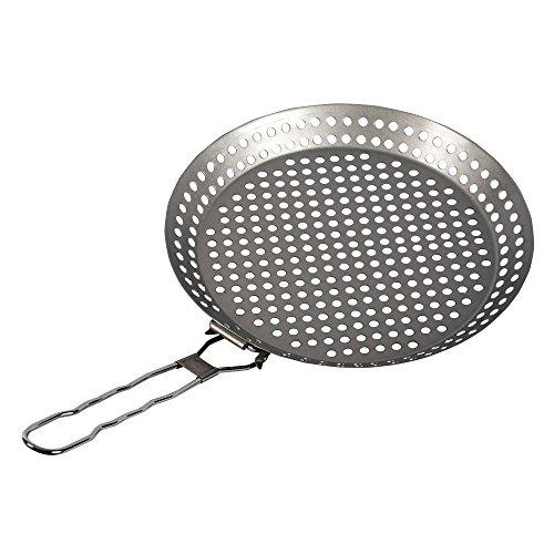 GRILL & MORE Essentials antiadhésive moule à pizza avec poignée rabattable pour Grill & BBQ