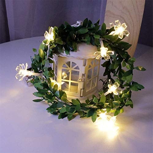 Light Post Led Strip Fairy Lights 3M Holiday Led String Lights Outdoor Christmas Cherry Blossoms Led Wreath Lights Wedding Party Garden Decoration Lights / 20 Led/Battery Power.