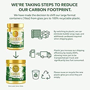Original Grass-Fed Ghee by 4th & Heart, 16 Ounce, Keto, Pasture Raised, Non-GMO, Lactose Free, Certified Paleo #5