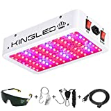 KINGPLUS 1000w LED Grow Light Double Chips Full Spectrum with UV&IR for Greenhouse