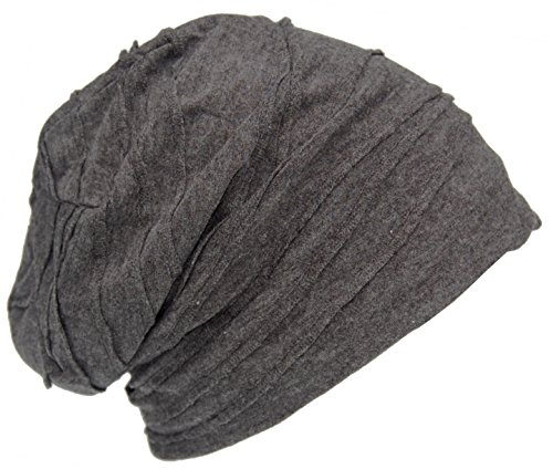 Cool4 Vintage vouwstructuur beanie antraciet donkergrijs Slouch Retro stijlvolle muts cap hoed VSB14