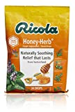 Ricola Honey Herb Herbal Cough Suppressant Throat Drops, 24ct Bag