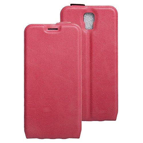Litao-Case CN Hülle für UMI Rome X hülle Flip Leder + TPU Silikon Fixierh Schutzhülle Case 5