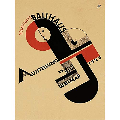 Exhibition Bauhaus Weimar Icon Germany Vintage Retro Advertising Art Print Poster Wall Decor 12X16 Inch