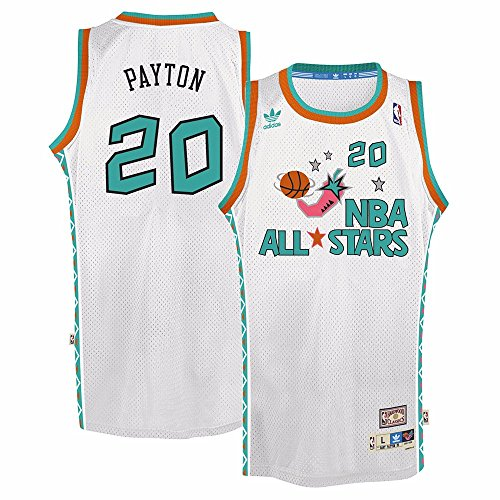 Gary Payton Adidas NBA Throwback 1995 All-Star West Swingman Jersey - White
