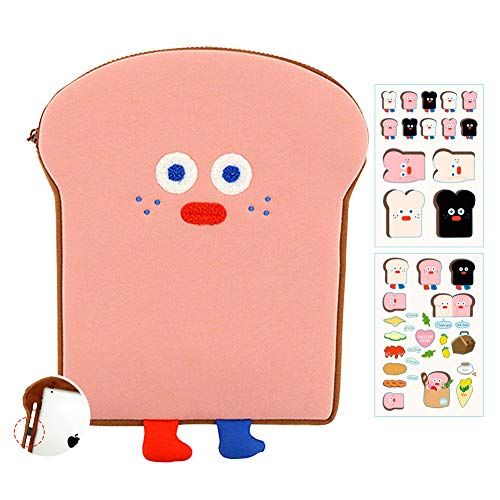 Cute Tablet Case for 9.7'-11' Shockproof Tablet Sleeve with Table Pencil Holder (Strawberry Toast)
