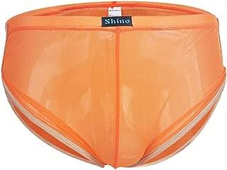 Houshelp Men's mesh Underwear Underwear Sexy Mesh Breathable Boxer Briefs Low Rise Cool Boxers Pack Set