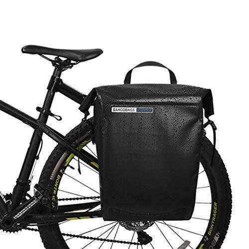 YUYAXBG Modieuze fietspaden, grote capaciteit fietspadenzak waterdicht lichtgewicht fietstas, enkele fiets achterbank Trunk Pack, Anti -scratch, zwart, zwart