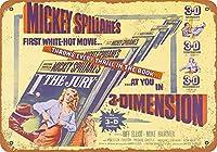 ミッキーSpillane私は陪審員2金属レトロな壁の装飾ティンサインバー、カフェ、家の装飾