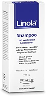 Linola Shampoo 200 ml - für trockene, empfindliche oder zu Neurodermitis neigende Kopfhaut