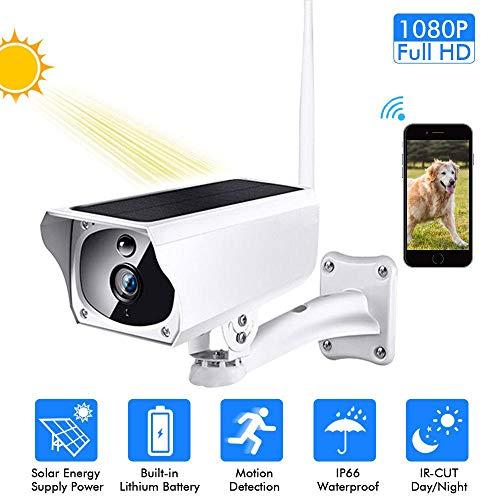Vigilancia de Seguridad 1080p HD 2mp visualización remota inalámbrica Detección de Movimiento PIR IR visión Nocturna energía Solar cámara IP wi-fi Impermeable al Aire Libre@Estados Unidos
