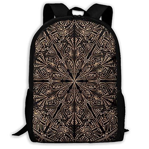 AOOEDM Backpack Mochila multifunción, Mandalas Mochila Escolar Ligera y Duradera Mochila universitaria Mochila para portátil Mochila de Viaje Informal