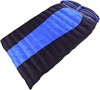 WSJTT Sleeping Bag for Adults Double Queen 2 Person Sleeping Bags for Camping, Backpacking, Hiking, Bonus Carrying Bag