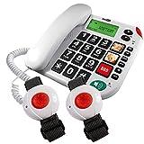 Maxcom KXTSOS: Seniorentelefon mit Funk-Notruf-Sender