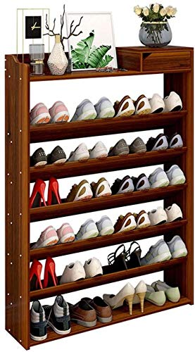 BFHJG Zapatero Independiente de 7 Niveles Zapatero Grande con cajones Zapatero Zapatero de Madera para zapateros de Entrada (Color: Marrón tamaño: 75 cm (7 Niveles))-75cm (7 Niveles)_marrón