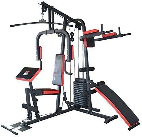 TrainHard® Kraftstation Fitnessstation Fitnesscenter Hantelbank m 65kg Gewicht