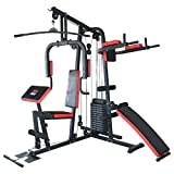 TrainHard Kraftstation Multistation Fitnessstation Home Gym 65 kg Gewichten inkl. Dipstation...
