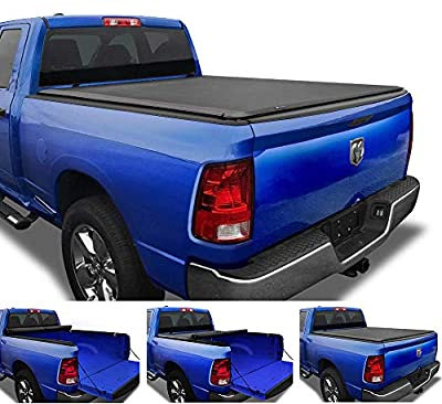 """Tyger Auto T1 Soft Roll Up Truck Tonneau Cover Compatible with 2009-2018 Dodge Ram 1500; 2019-2020 1500 Classic 