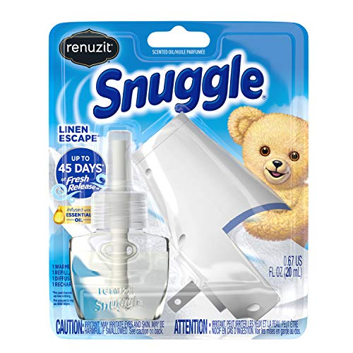 Product Image of the Renuzit Snuggle Scented Oil Refill Air Freshener & Plugin Warmer, Linen Escape Starter Kit