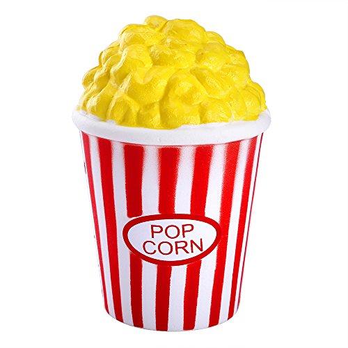 Pllieay 1stukken Popcorn mok squishy Slow Rising Stress Relief Soft Toy voor kinderen en volwassenen
