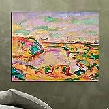 tzxdbh Kein Rahmen 51X64 cmGeorges Braque Landschaft in der