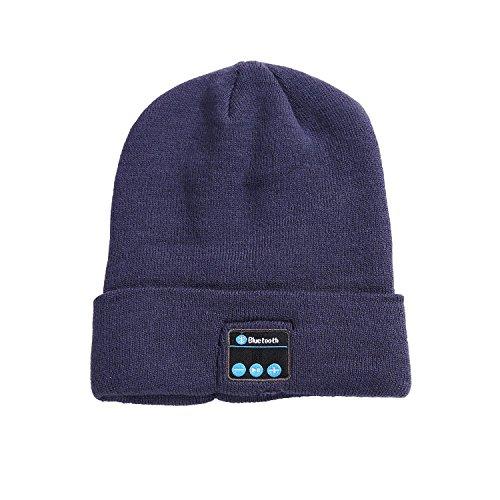 YI WORLD Smart Casquette Bluetooth Beanie (oreillette Bluetooth Hat) Fil Casque Music Hat Microphone intégré Répondre aux appels, Gray